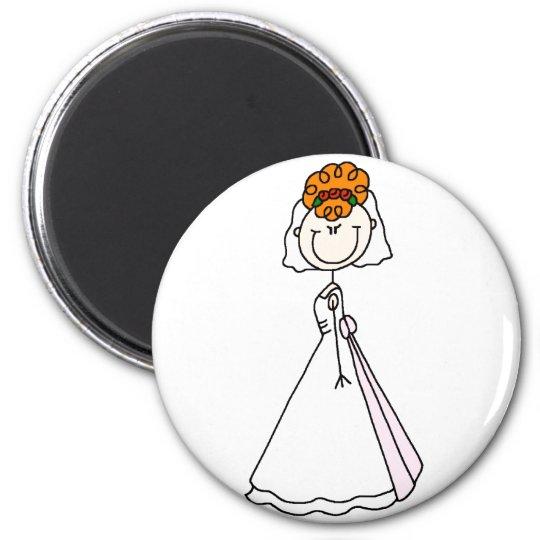 Redhead Bride Magnet