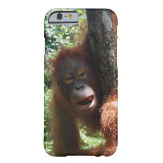 Redhead caliente un animal real funda de iPhone 6 barely there