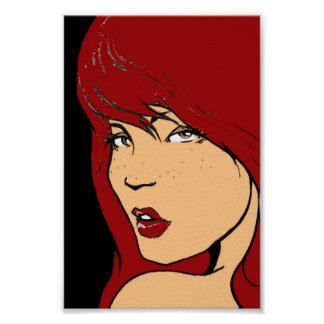 Redhead cheesecake poster