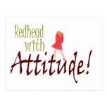 Redhead con actitud postales