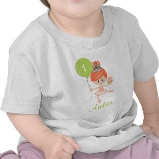 Redhead de la primera camiseta del cumpleaños de
