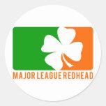 Redhead de la primera división etiquetas redondas