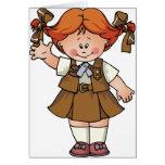 Redhead del brownie tarjeton