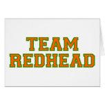 Redhead del equipo - naranja/Grn Tarjetas