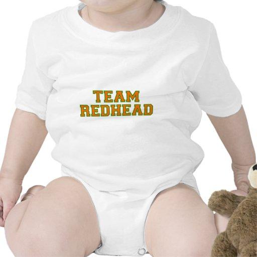 Redhead del equipo - naranja/Grn Traje De Bebé