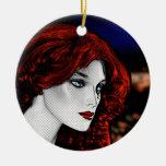 Redhead del estilo del cómic ornamentos de reyes