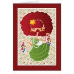 Redhead del navidad tarjetas