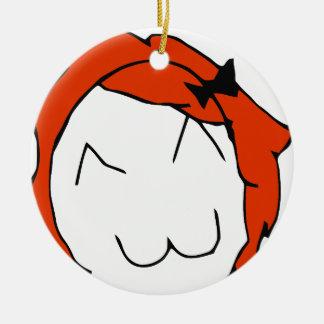 Redhead Derpina Ceramic Ornament