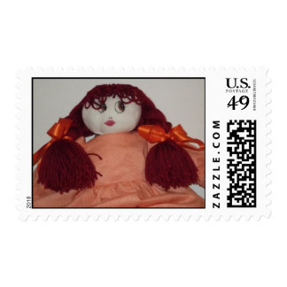 Redhead Doll Postage Stamps