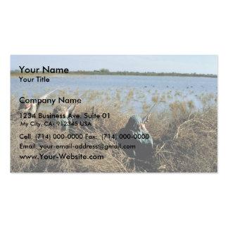 Redhead ducks business card