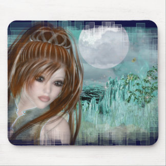 Redhead Elf & Blue Glass Night Designs Mouse Pad