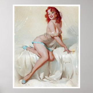Redhead en el Pin de los deslizadores para arriba Posters
