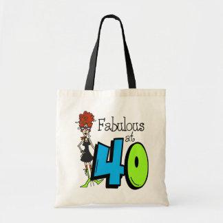 Redhead fabuloso en el cumpleaños 40 bolsa tela barata