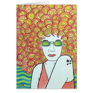 Redhead Ginger Girl Greeting Card
