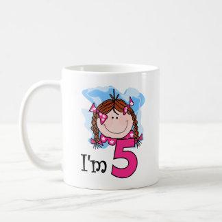 Redhead Girl I'm Five Classic White Coffee Mug