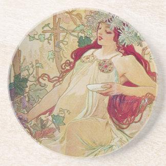 Redhead Goddess Drink Coaster
