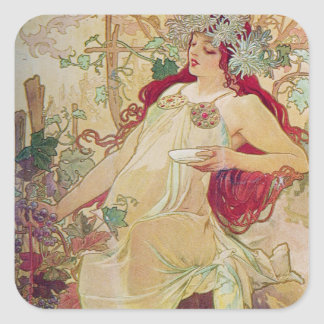 Redhead Goddess Square Sticker