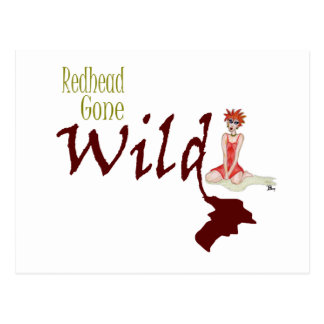 Redhead Gone Wild Post Card