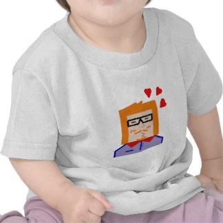 Redhead hipster lover funny cartoon camiseta