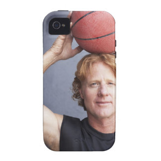 Redhead holding a basket ball over his head vibe iPhone 4 cases
