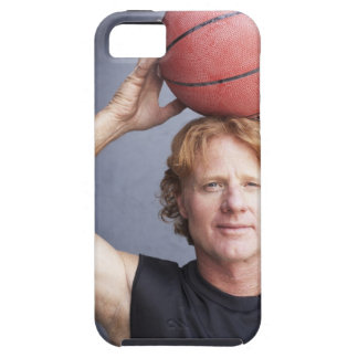 Redhead holding a basket ball over his head iPhone 5 cover