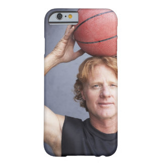 Redhead holding a basket ball over his head barely there iPhone 6 case