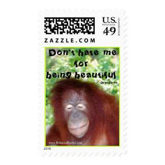 Redhead Jealousy Don't Hate Me for Being Beautful Postage Stamp