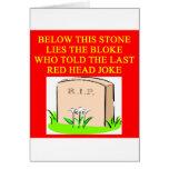 REDHEAD joke Greeting Card