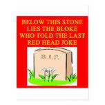 REDHEAD joke Post Cards