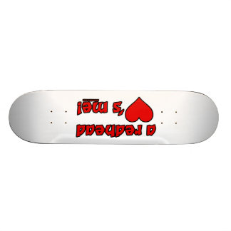 Redhead Loves Me Skate Boards
