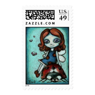 Redhead Lucy postage stamps