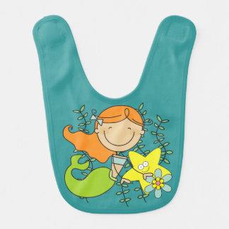 Redhead Mermaid Baby Bib