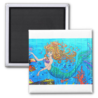 redhead mermaid magnet