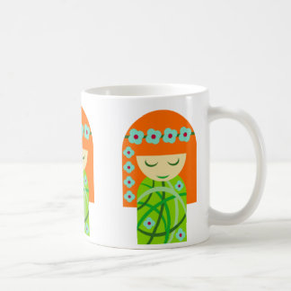 Redhead Nature Girl Wearing A Flower Crown Coffee Mug