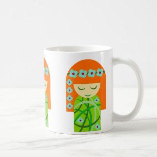 Redhead Nature Girl Wearing A Flower Crown Coffee Mug