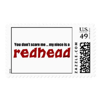 Redhead Niece Postage Stamp