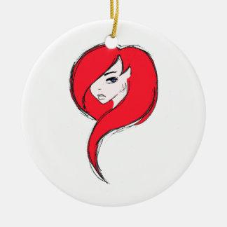 Redhead Round Ceramic Decoration
