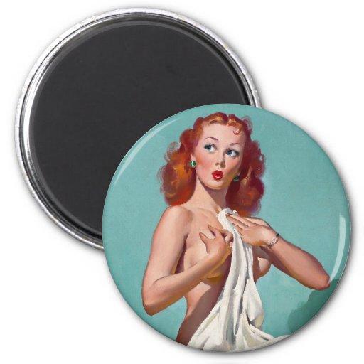 Redhead Patient Pin Up Fridge Magnet