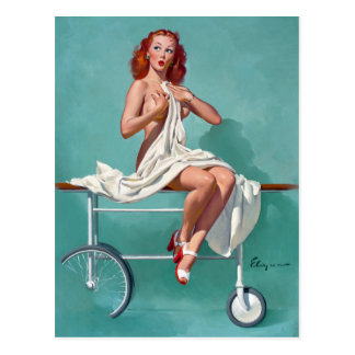 Redhead Patient Pin Up Post Cards