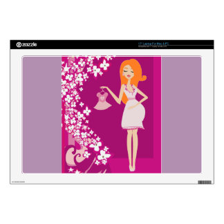 redhead pregnant woman skin for laptop