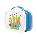 Redhead Princess and Frog at Castle Lunch Box
