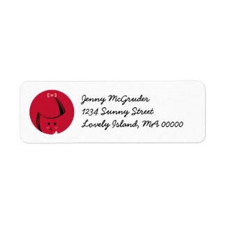 Redhead Return Address Labels
