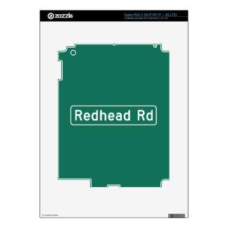 Redhead Road, Street Sign, Iowa, US iPad 3 Decal