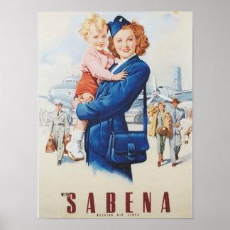 Redhead Stewardess Poster