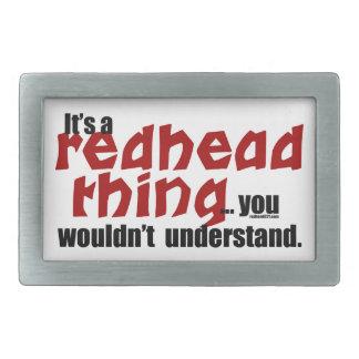 Redhead Thing Rectangular Belt Buckle