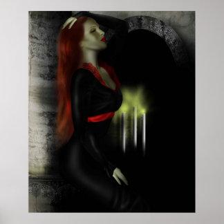 redhead vamp poster