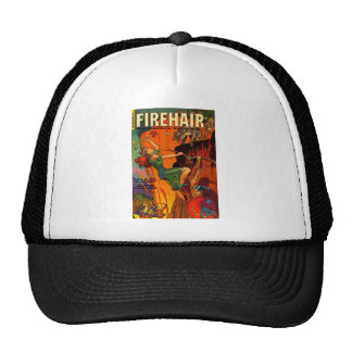 Redhead Warrior Maid Fighting Wolves Hats