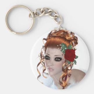 Redhead Woman Keychains