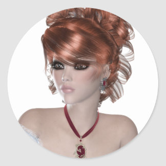 Redhead Woman Stickers