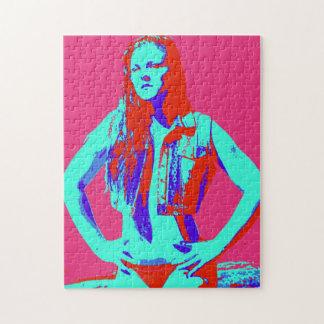 redheaded bikini girl jigsaw puzzle